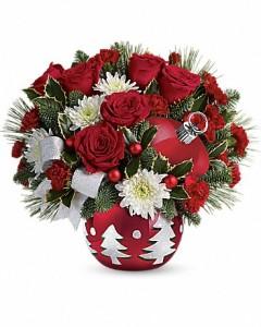 Christmas Joy of love assorted fresh flowers