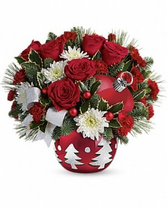 Christmas Joy of love assorted fresh flowers
