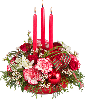 Christmas Kindness Centerpiece in Mustang, OK | MUSTANG FLOWERS & GIFTS