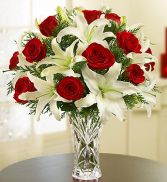 Lead Crystal Vase  Arrangement Fresh Flowers