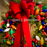CHRISTMAS LIGHTS WREATH