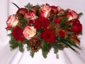 CHRISTMAS MAGIC CENTERPIECES - Christmas Roses   Christmas Centerpieces, Beautiful Majestic Centerpiece Arrangements, Christmas Roses, Christmas Flowers - AMAPOLA BLOSSOMS Prince George BC