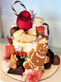Christmas Mini Deco Cake Sweet Blossoms