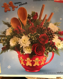 CHRISTMAS MIXING BOWL ARRANGEMENT CHRISTMAS ARRANGEMENT
