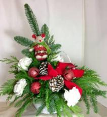 Christmas Mouse And  Christmas Bells Basket