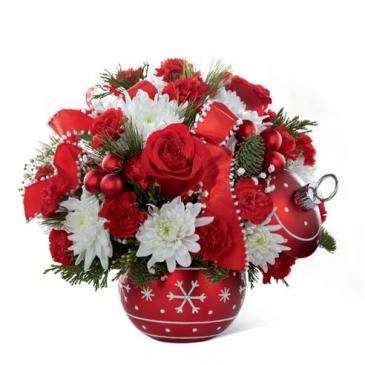 Christmas ornament bowl