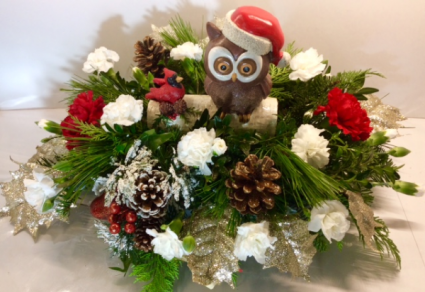 Christmas Owl Centerpiece