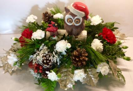 Christmas Owl Centerpiece