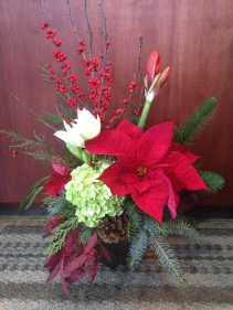 Christmas Pageantry  Vase Arrangement