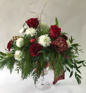 Christmas Pedestal   in Goderich, ON | LUANN'S FLOWERS & GIFTS