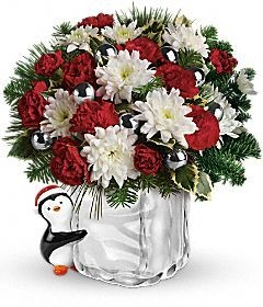 SEND A HUG PENGUIN ARRANGEMENT (ORNAMENTS MAY VARY)