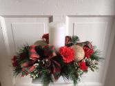 Christmas Plaid Silk Centerpiece