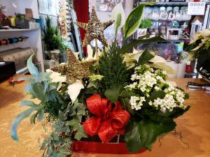Christmas planter  Garden of Plants in Stouffville, ON | Centerpiece Flowers