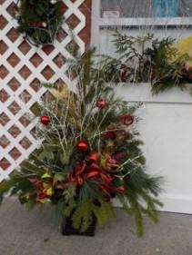 Christmas Planter Outside Christmas Planter Outside