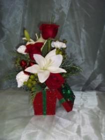 Christmas Present In Keepsake Glitz Tin Box
