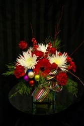 Christmas Rainbow Fresh Cut Arrangement