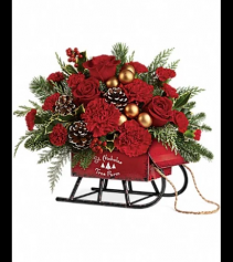 Christmas sleigh Actual in Store Photo