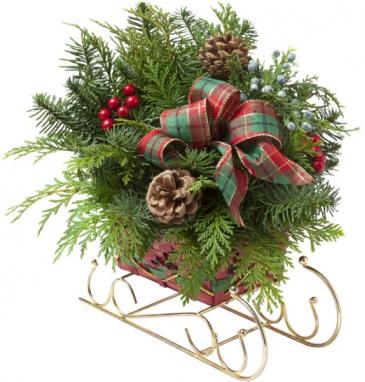 Christmas Sleigh Arrangement
