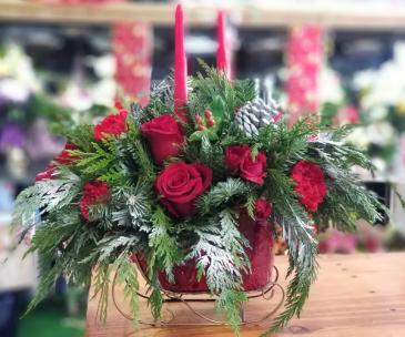 Christmas Sleigh Ride  Floral Arrangment
