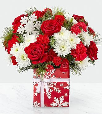 CHRISTMAS SNOWFLAKE Vase Arrangement