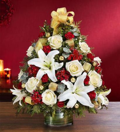 Christmas Spectacular™ Holiday Flower Tree® Arrangement