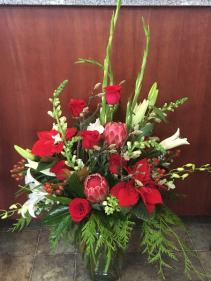 Christmas Spectacular  Vase Arrangement