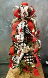 Christmas Spirit  Mini Artificial Plug-In Tree