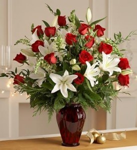 For the Love of Roses & Lillies Vase Arrangement in Bend, OR | AUTRY'S 4 SEASONS FLORIST