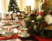 Custon designed Christmas Table Arrangement