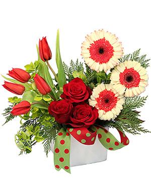 Christmas Ties Flower Arrangement in Ozone Park, NY | Heavenly Florist