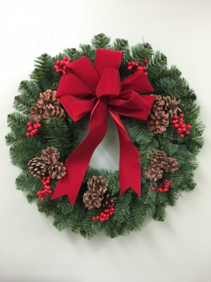 CHRISTMAS TRADITIONS BALSAM WREATH in Springfield, VT | WOODBURY FLORIST