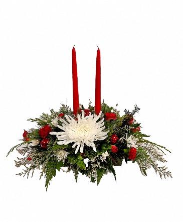 Christmas Traditions Bud & Bloom Signature Arrangement