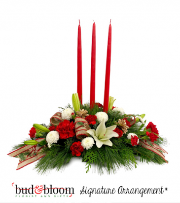 Christmas Traditions Bud & Bloom Signature Arrangement