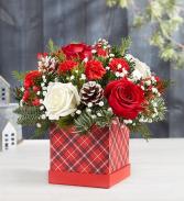 Christmas Traditions Plaid Gift Box