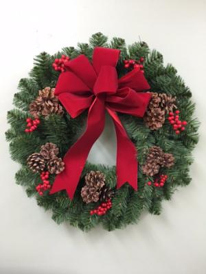 CHRISTMAS TRADITIONS  FRESH BALSAM WREATH in Springfield, VT | WOODBURY FLORIST