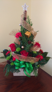 Christmas Tree Arrangement Centerpiece - All Around
