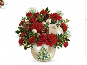 Christmas Tree Ornament  Keepsake container with fresh flowers in Fairfield, OH | NOVACK-SCHAFER FLORIST