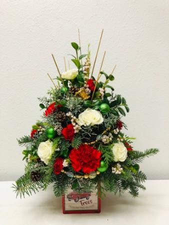 Christmas Tree Style Christmas Arrangement