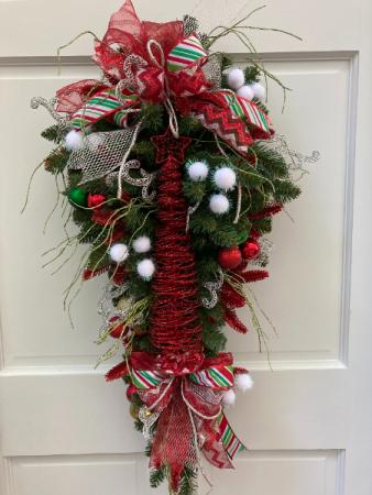 Christmas Tree Swag Silk