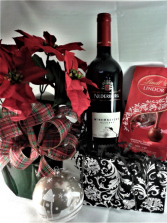 HOLIDAY TRIO SPECIAL 6 'Poinsettia, wine and chocolates