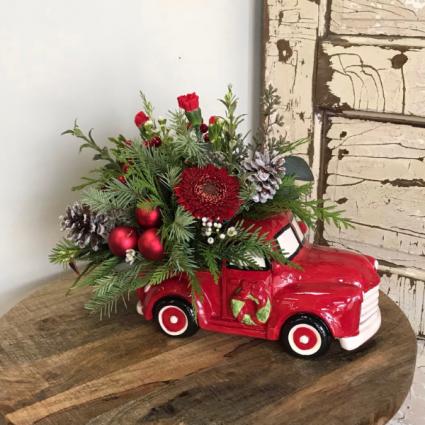 Christmas Truck arrangement