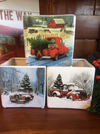 Christmas Truck Cube Arrangement