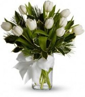 Christmas Tulips by Enchanted Florist