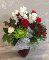 Christmas Vase  Vased Fresh Flowers