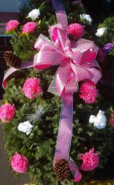 christmas white and pink blanket christmas blanket