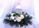 Christmas White Lantern Christmas Arrangement