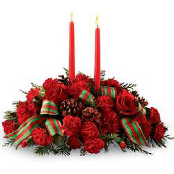 Christmas wish 2 candle centerpiece in Colorado Springs, CO | ENCHANTED FLORIST II