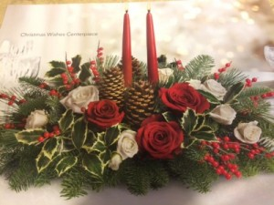 Christmas Wishes Centerpiece   in Fowlerville, MI | ALETA'S FLOWER SHOP