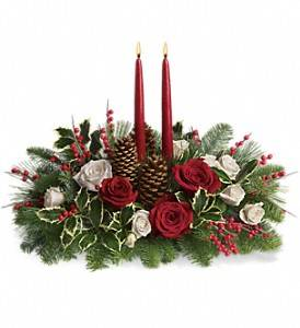 Christmas Wishes centerpiece in Claremont, NH | FLORAL DESIGNS BY LINDA PERRON