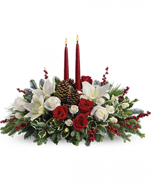 Christmas Wishes Centerpiece  in Mcdonough, GA | Parade of Flowers